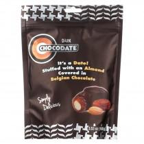 Chocodate - Date And Almond - Dark Chocolate - Case Of 12 - 3.53 Oz.