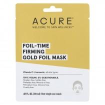 Acure - Mask - Foil-time Firming Gold Foil Mask - Case Of 12 - 0.67 Fl Oz.