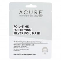 Acure - Mask - Foil-time Fortifying Silver Foil Mask - Case Of 12 - 0.67 Fl Oz.