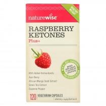 Naturewise - Raspberry Ketones Plus+ 400mg - 120 Vegetarian Capsules