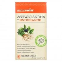 Naturewise - Ashwagandha - Endurance - 60 Vegetarian Capsules