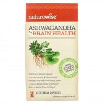 Naturewise - Ashwagandha - Brain Health - 60 Vegetarian Capsules