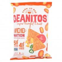 Beanitos - White Bean Chips - Nacho Nation - Case Of 6 - 4.5 Oz.