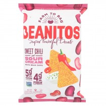 Beanitos - White Bean Chips - Sweet Chili And Sour Cream - Case Of 6 - 4.5 Oz.