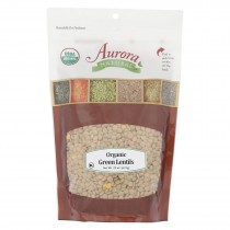 Aurora Natural Products - Organic Green Lentils - Case Of 12 - 22 Oz.