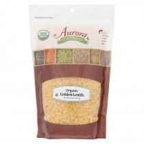 Aurora Natural Products - Organic Golden Lentils - Case Of 10 - 22 Oz.