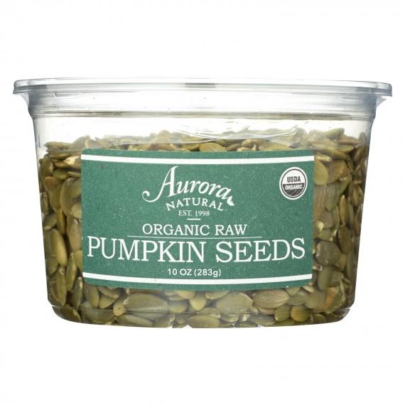 Aurora Natural Products - Organic Raw Pumpkin Seeds - Case Of 12 - 10 Oz.
