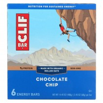 Clif Bar - Energy Bar - Chocolate Chip - Case Of 9 - 6/2.4oz.
