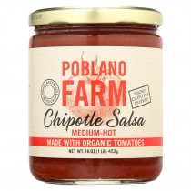 Poblano Farm - Chipotle Salsa - Medium Heat - Case Of 12 - 16 Oz.