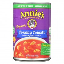 Annie's Homegrown - Soup Creamy Tomato And Bunny Pasta Soup - Case Of 8 - 14.3 Oz.