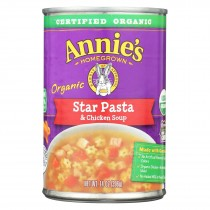 Annie's Homegrown - Soup - Star Pasta And Chicken Soup - Case Of 8 - 14 Oz.