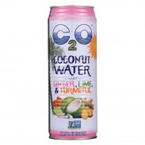 C2o - Pure Coconut Water - Ginger, Lime And Tumeric - Case Of 12 - 17.5 Fl Oz.