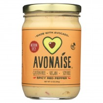 Avonaise - Vegan Mayo Substitute - Spicy Red Pepper - Case Of 6 - 12 Oz.
