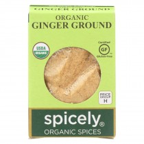 Spicely Organics - Organic Ginger - Ground - Case Of 6 - 0.4 Oz.
