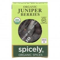 Spicely Organics - Organic Juniper Berries - Case Of 6 - 0.2 Oz.