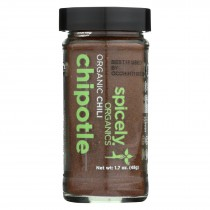 Spicely Organics - Organic Chili Chipotle - Ground - Case Of 3 - 1.7 Oz.