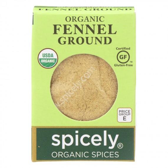 Spicely Organics - Organic Fennel - Ground - Case Of 6 - 0.5 Oz.