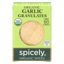 Spicely Organics - Organic Garlic Granulates - Case Of 6 - 0.45 Oz.