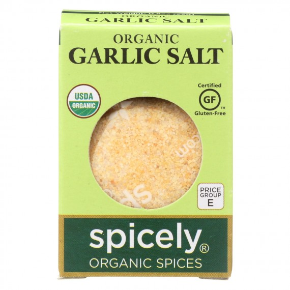 Spicely Organics - Organic Garlic Salt - Case Of 6 - 0.8 Oz.