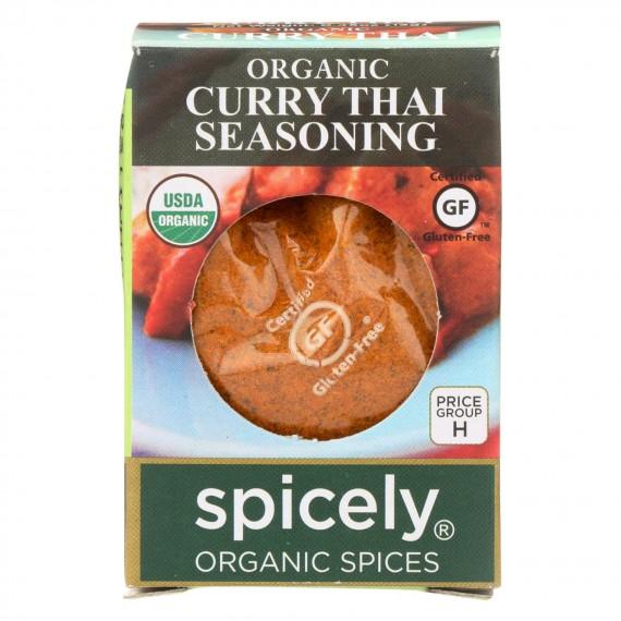 Spicely Organics - Organic Curry - Thai - Case Of 6 - 0.45 Oz.