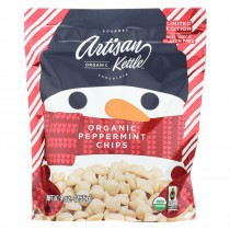 Artisan Kettle - Organic Chocolate Chips - White Peppermint - Case Of 6 - 9 Oz.