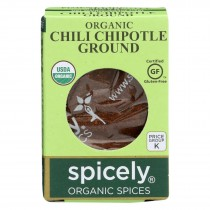 Spicely Organics - Organic Chipotle Chili - Ground - Case Of 6 - 0.45 Oz.