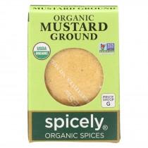Spicely Organics - Organic Mustard - Ground - Case Of 6 - 0.4 Oz.