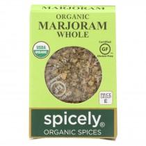 Spicely Organics - Organic Marjoram - Whole - Case Of 6 - 0.1 Oz.