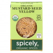 Spicely Organics - Organic Mustard Seed - Yellow - Case Of 6 - 0.45 Oz.
