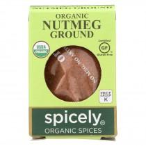 Spicely Organics - Organic Nutmeg - Ground - Case Of 6 - 0.4 Oz.