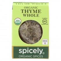Spicely Organics - Organic Thyme - Case Of 6 - 0.1 Oz.