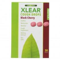 Xlear - Throat Drops Black Cherry - 30 Ct