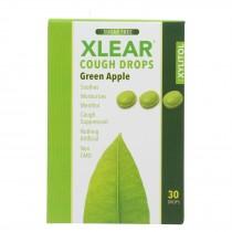 Xlear - Throat Drops Green Apple - 30 Ct
