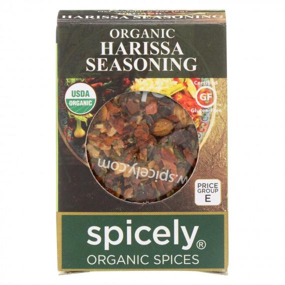 Spicely Organics - Organic Harissa Seasoning - Case Of 6 - 0.3 Oz.