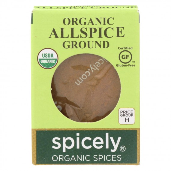 Spicely Organics - Organic Allspice - Ground - Case Of 6 - 0.45 Oz.