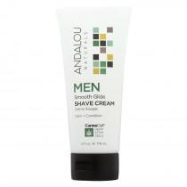 Andalou Naturals - Men Smooth Glide Shave Cream - 6 Fl Oz.
