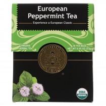 Buddha Teas - Organic Tea - European Peppermint - Case Of 6 - 18 Bags
