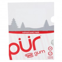 Pur Gum - Gum - Candy Cane - Case Of 12 - 0.44 Oz.