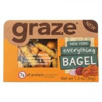 Graze - Snack Mix - New York Everything Bagel - Case Of 6 - 1.3 Oz.