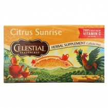Celestial Seasonings - Tea - Citrus Sunrise - Case Of 6 - 20 Bags