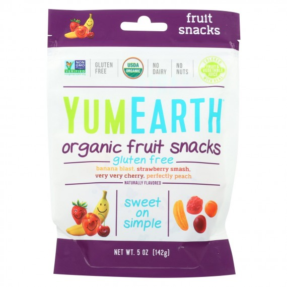 Yumearth Organics - Organic Fruit Snack - 4 Flavors - Case Of 6 - 5 Oz.
