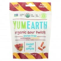 Yumearth Organics - Organic Sour Twists - Watermelon Lemonade - Case Of 6 - 5 Oz.