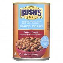 Bush's Best - Baked Beans - Brown Sugar Hickory - Case Of 12 - 15.7 Oz.