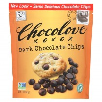 Chocolove Xoxox - Dark Chocolate Chips - Case Of 8 - 11 Oz.