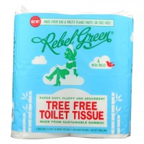 Rebel Green - Tree Free Toilet Tissue - Case Of 18 - 4 Count