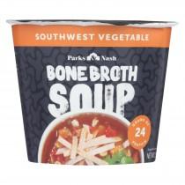 Bone Broth Soup - Soup Cup - Southwest Vegetable - Case Of 6 - 1.55 Oz.