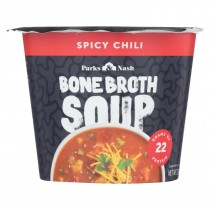 Bone Broth Soup - Soup Cup - Spicy Chili - Case Of 6 - 2.18 Oz.