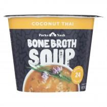 Bone Broth Soup - Soup Cup - Coconut Thai - Case Of 6 - 2.18 Oz.