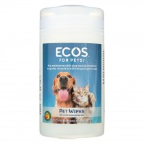 Ecos - Pet Wipes Pre-moistened Towelettes - 70 Count