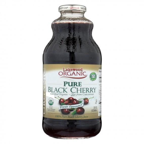 Lakewood - Organic Juice - Pure Black Cherry - Case Of 6 - 32 Fl Oz.